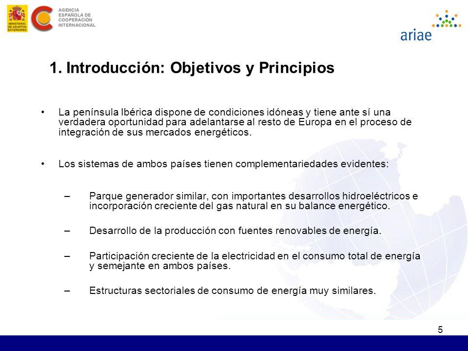 5 1. Introducción: Objetivos y Principios La península Ibérica dispone de condiciones idóneas y tiene ante sí una verdadera oportunidad para adelantar