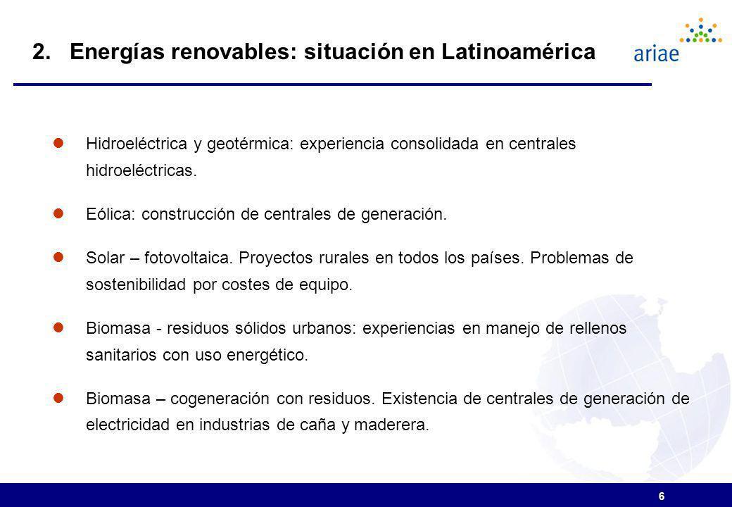 6 Hidroeléctrica y geotérmica: experiencia consolidada en centrales hidroeléctricas.
