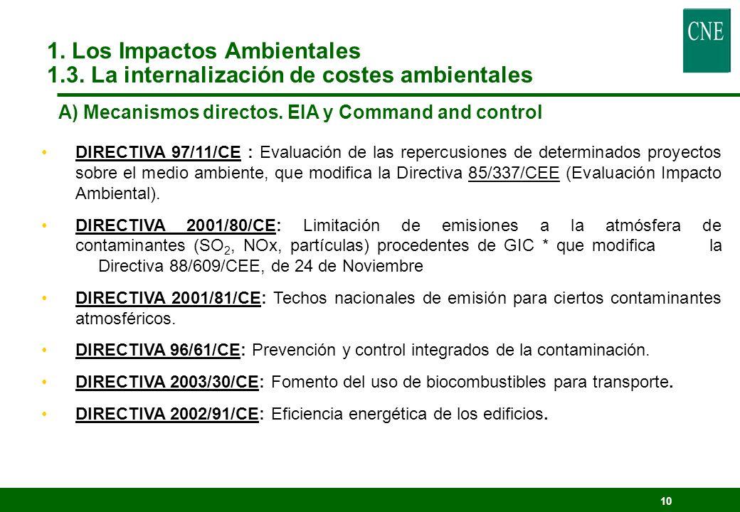 9 Mecanismos Directos: E.I.A., Command and Control y planificación.