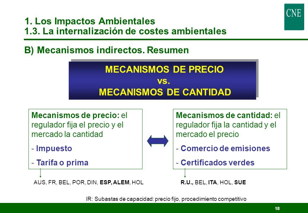 17 Comercio de certificados verdes lEn teoría, es el mecanismo más compatible con el mercado de electricidad y el más eficiente.