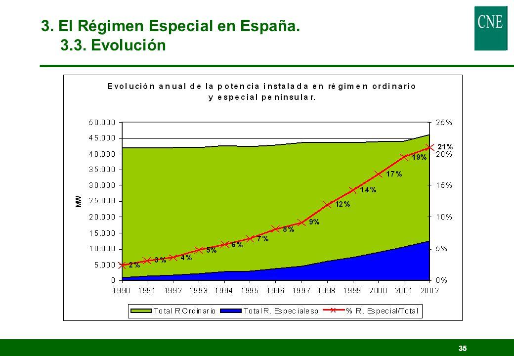 34 3.El Régimen Especial en España. 3.3.