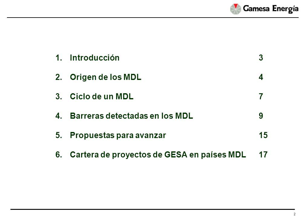 2 1.Introducción3 2.Origen de los MDL4 3.Ciclo de un MDL7 4.Barreras detectadas en los MDL9 5.Propuestas para avanzar 15 6.Cartera de proyectos de GES