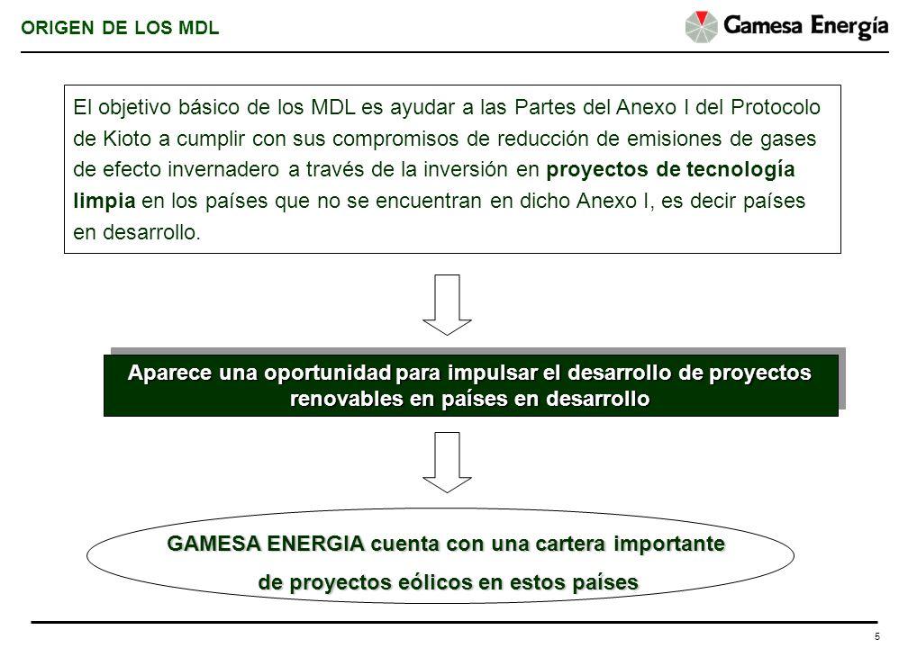 5 ORIGEN DE LOS MDL El objetivo básico de los MDL es ayudar a las Partes del Anexo I del Protocolo de Kioto a cumplir con sus compromisos de reducción