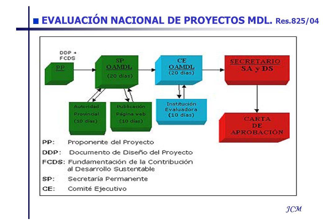 JCM EVALUACIÓN NACIONAL DE PROYECTOS MDL. Res.825/04