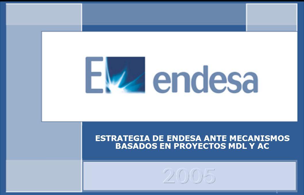 1 ESTRATEGIA DE ENDESA ANTE MECANISMOS BASADOS EN PROYECTOS MDL Y AC