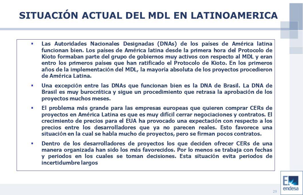 29 Las Autoridades Nacionales Designadas (DNAs) de los pa í ses de Am é rica latina funcionan bien. Los pa í ses de Am é rica latina desde la primera