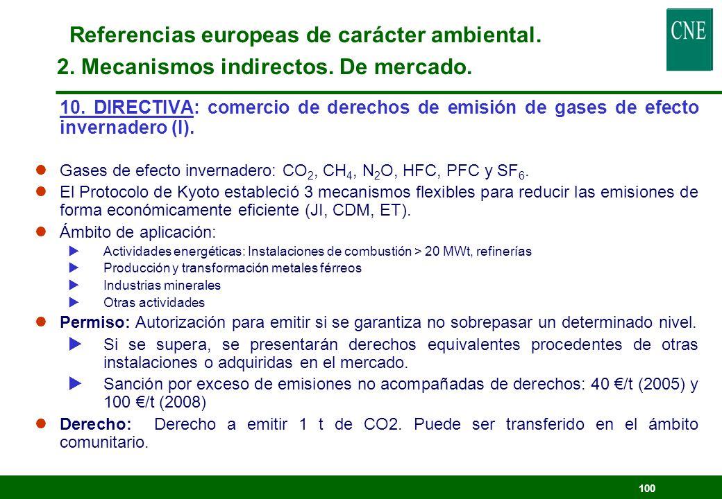 99 Referencias europeas de carácter ambiental. 2. Mecanismos indirectos. Fiscal 9. DIRECTIVA: Imposición de productos energéticos. lPara completar los