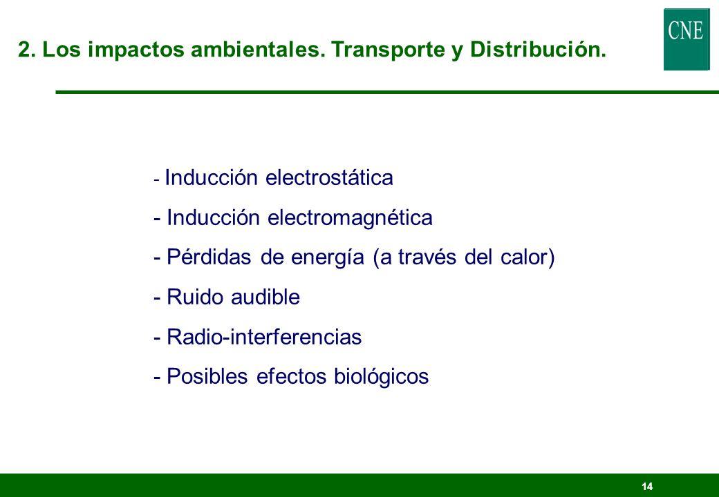 13 2. Los impactos ambientales. Transporte y Distribución