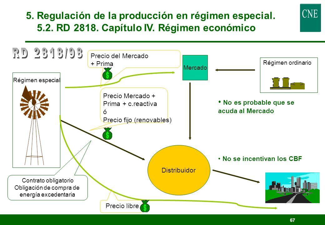 66 lConexión La energía cedida deberá ser adquirida por la distribuidora más próxima. Resuelve la autoridad competente, previo informe de la CNSE. El