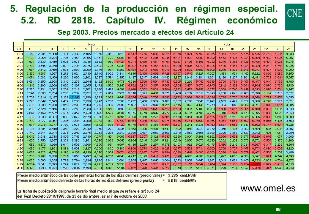 67 Distribuidor Mercado Contrato obligatorio Obligación de compra de energía excedentaria Régimen ordinario Régimen especial Precio Mercado + Prima +