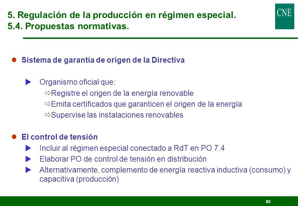 82 Características Generales Propuesta de la CNE Características Específicas Transparencia, objetividad y no discriminación Rentabilidad razonable (co