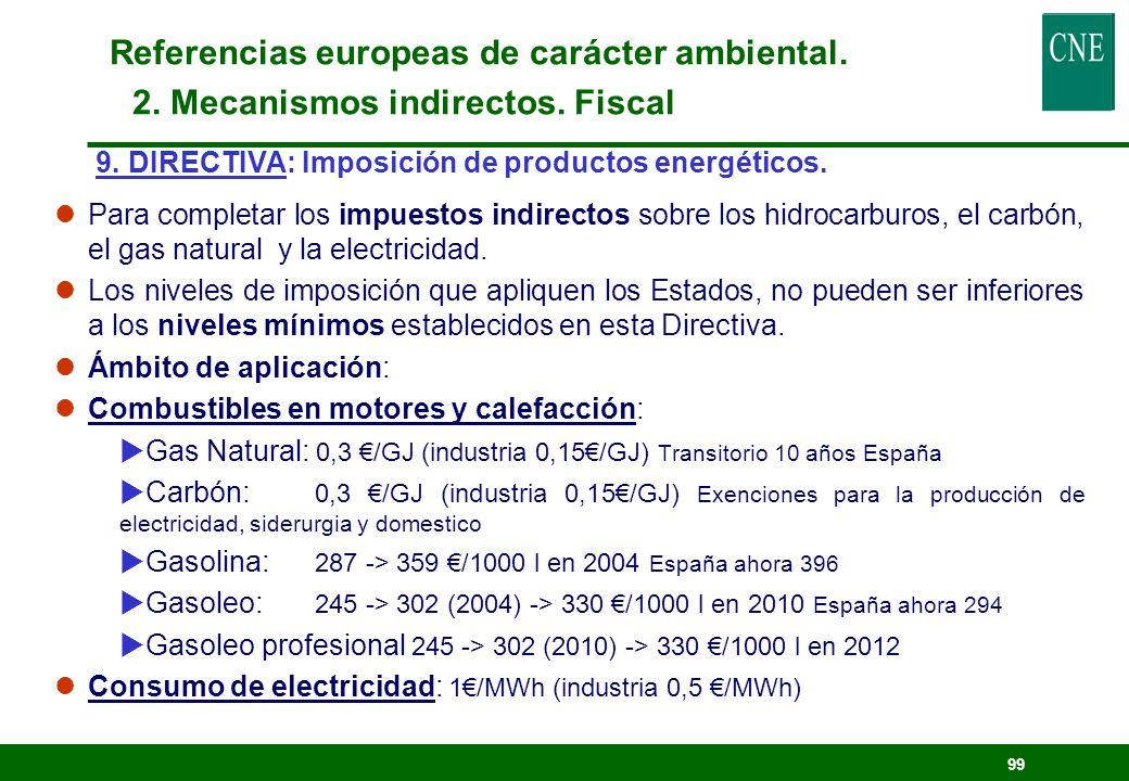 98 8. PROPUESTA DE DIRECTIVA: Fomento de la cogeneración basada en el uso de la demanda de calor en el mercado interior de la energía. lObjetivo: incr
