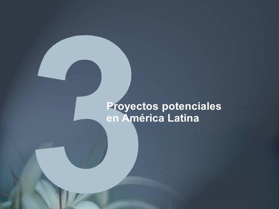 Proyectos potenciales en América Latina