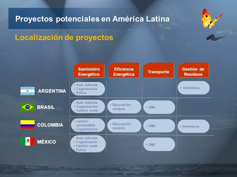 MÉXICO COLOMBIA BRASIL ARGENTINA Suministro Energético Sust.