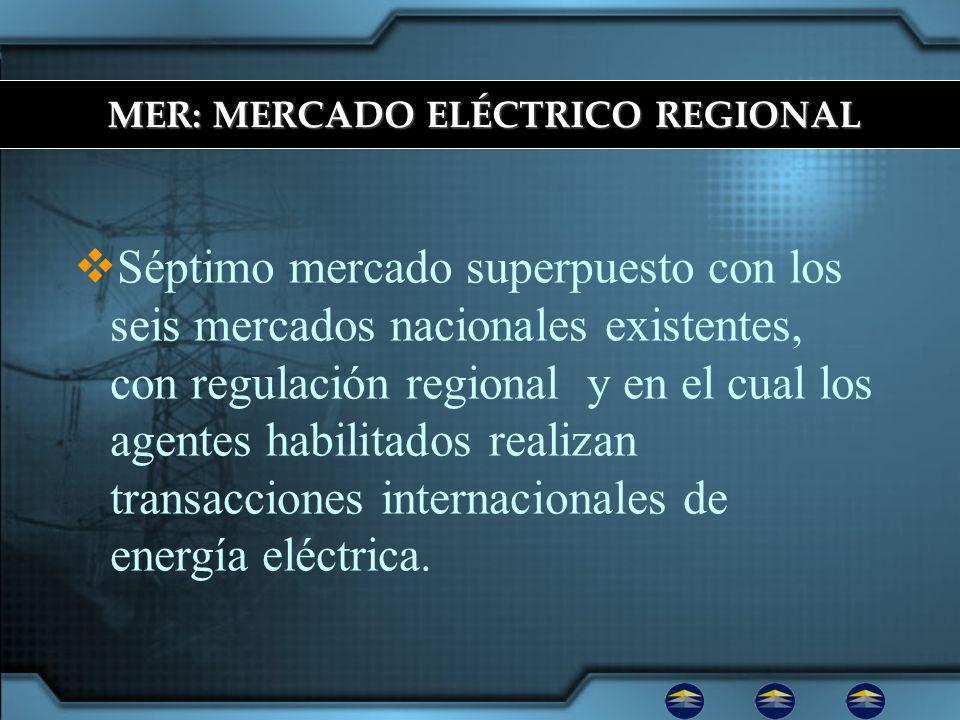 Séptimo mercado superpuesto con los seis mercados nacionales existentes, con regulación regional y en el cual los agentes habilitados realizan transacciones internacionales de energía eléctrica.