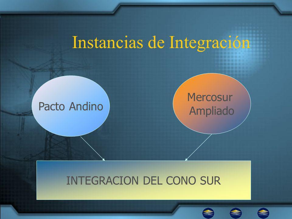 Instancias de Integración Pacto Andino Mercosur Ampliado INTEGRACION DEL CONO SUR