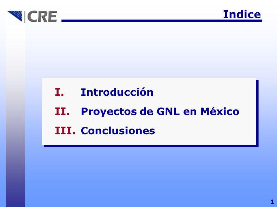 Indice I. Introducción II. Proyectos de GNL en México III. Conclusiones 1