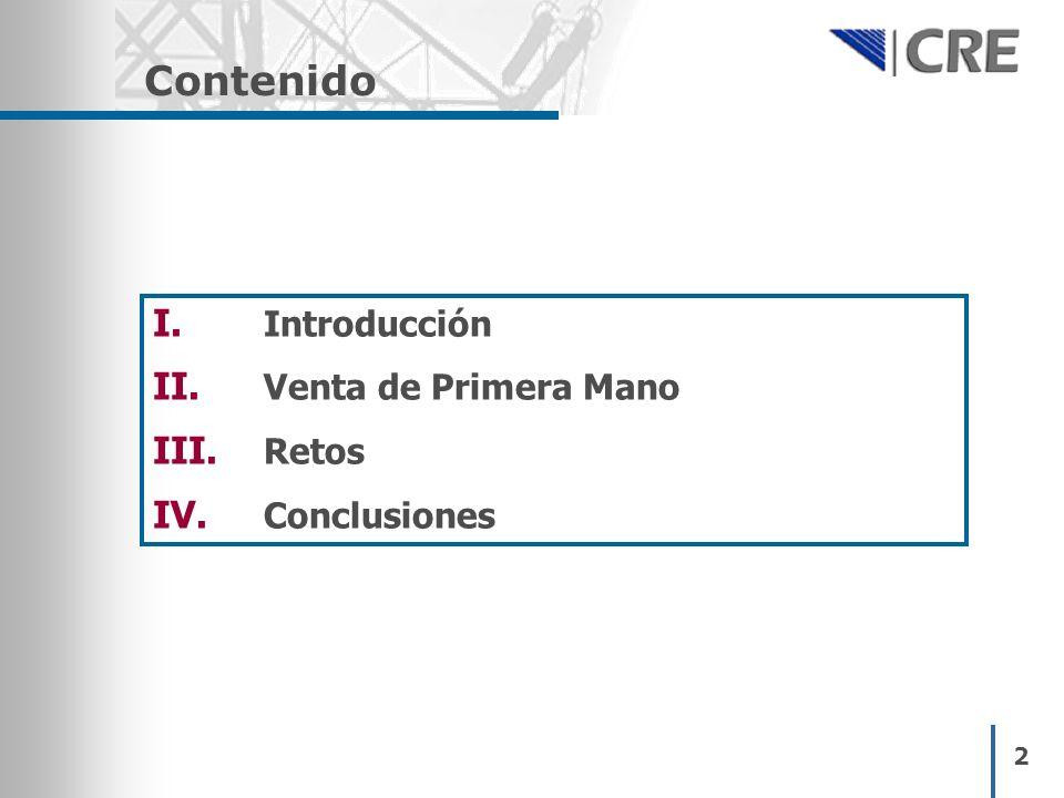 2 Contenido I. Introducción II. Venta de Primera Mano III. Retos IV. Conclusiones