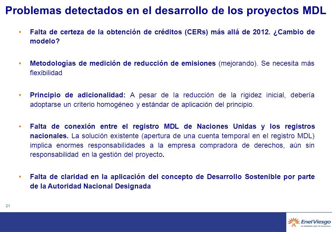 20 Necesidad de apoyo regulatorio a los proyectos renovables en América Latina Participación en mercados de producción en paridad de condiciones con otras fuentes de energía (p.e.