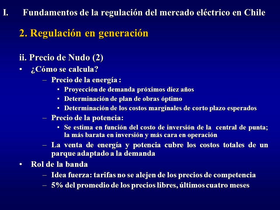 2. Regulación en generación ii. Precio de Nudo (2) ¿Cómo se calcula?¿Cómo se calcula? –Precio de la energía : Proyección de demanda próximos diez años