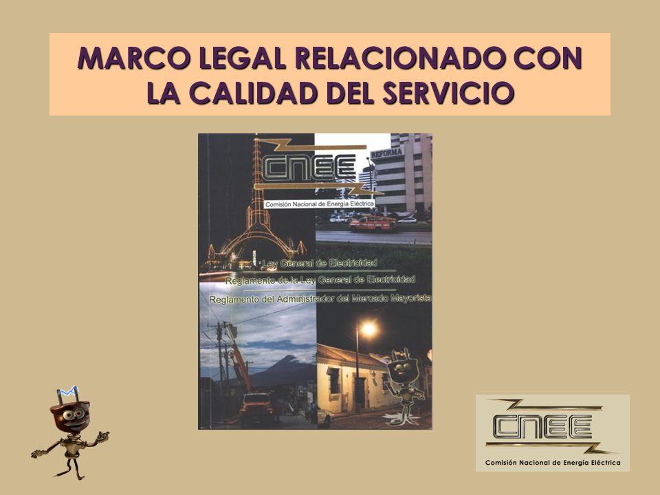 MARCO LEGAL RELACIONADO CON LA CALIDAD DEL SERVICIO