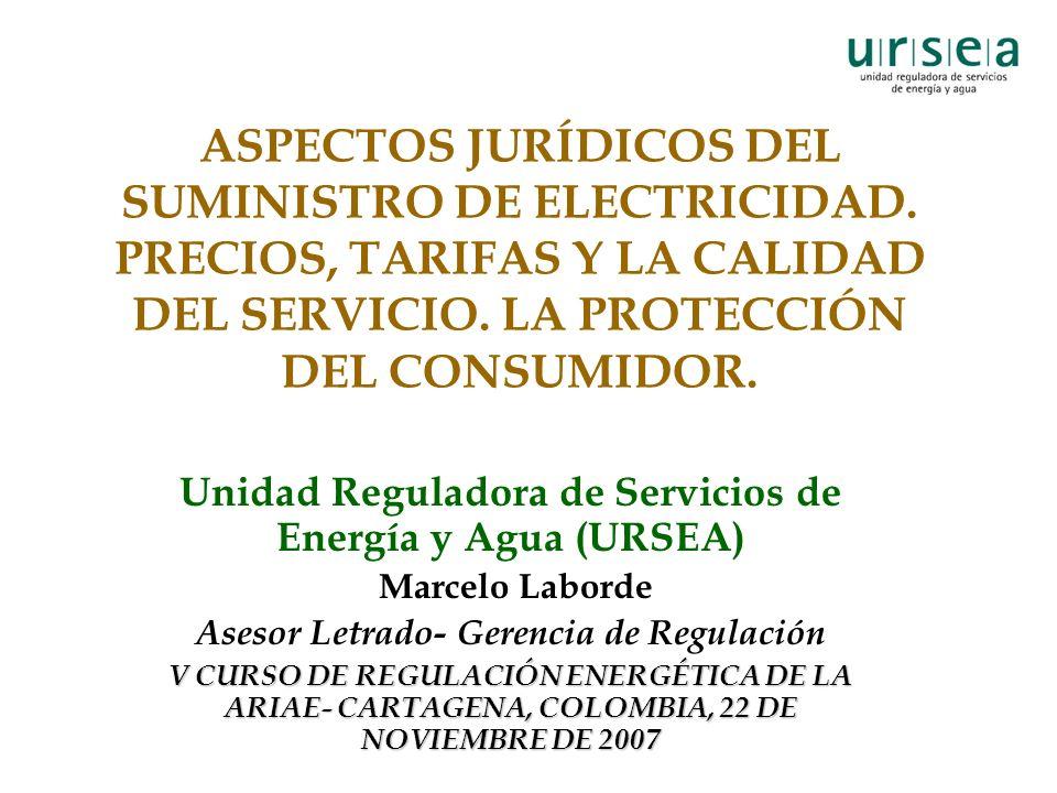 ASPECTOS JURÍDICOS DEL SUMINISTRO DE ELECTRICIDAD.