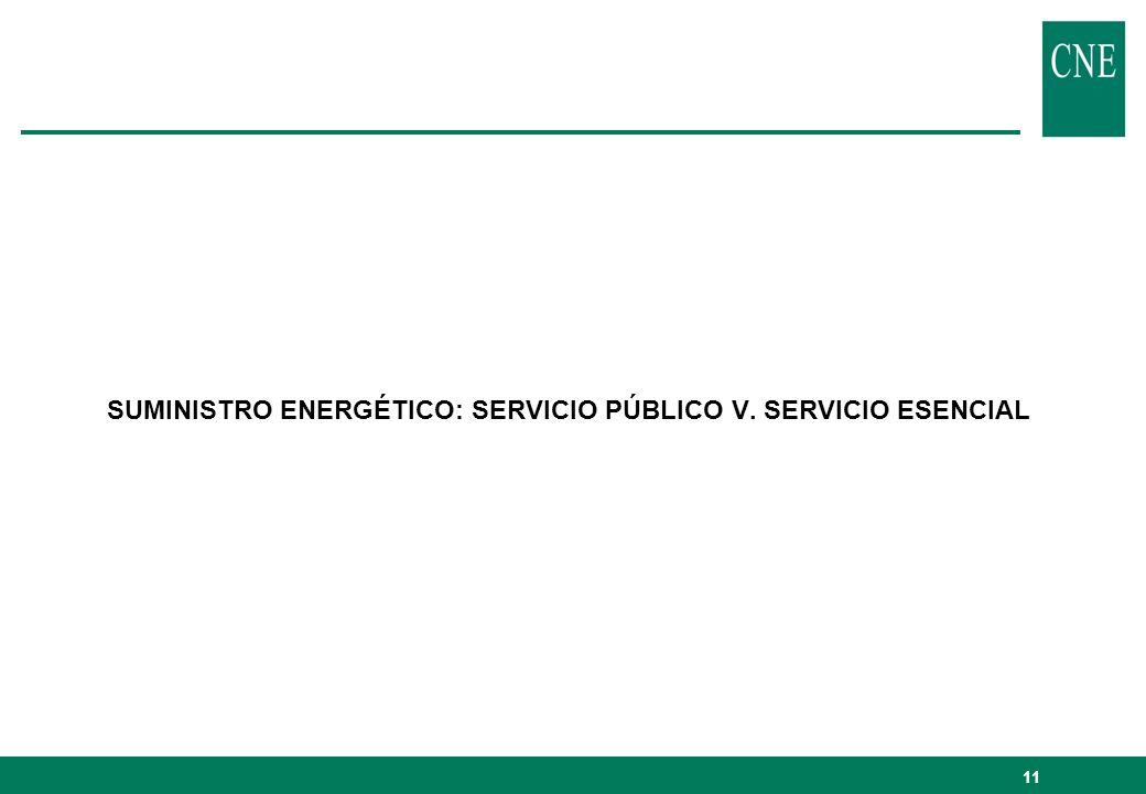 11 SUMINISTRO ENERGÉTICO: SERVICIO PÚBLICO V. SERVICIO ESENCIAL