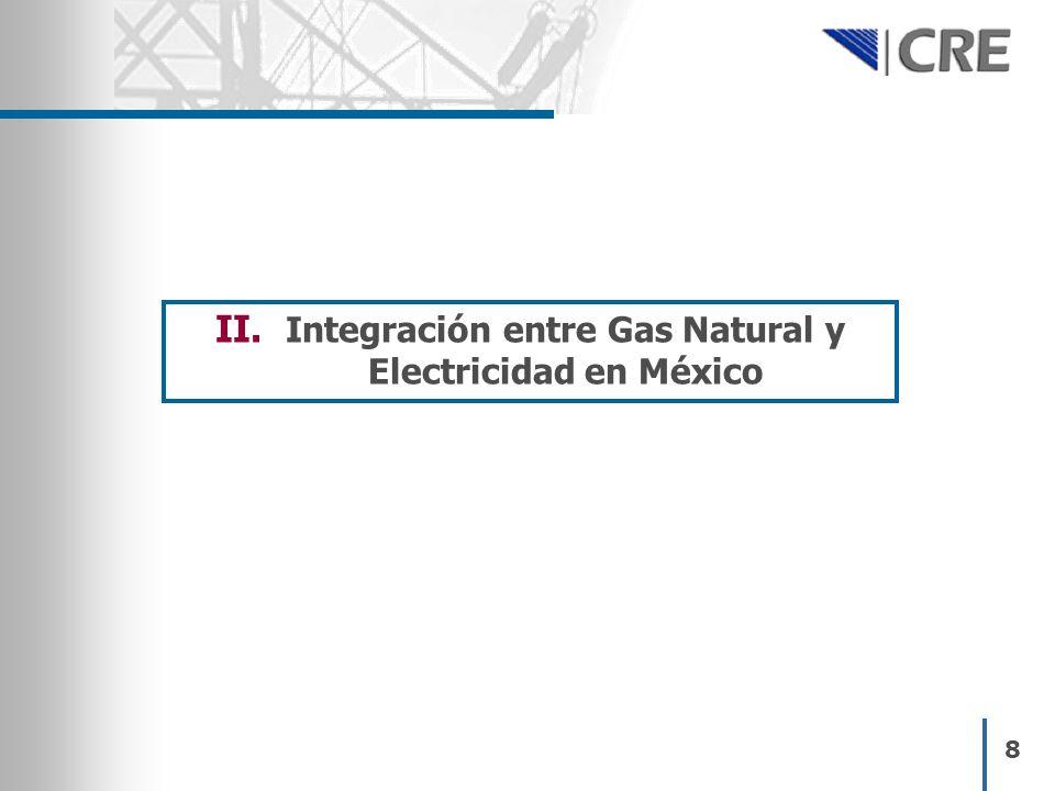 8 II. Integración entre Gas Natural y Electricidad en México