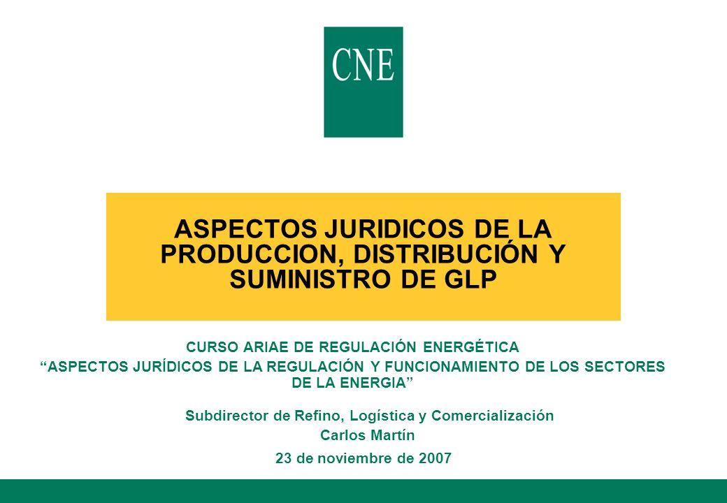 22 Índice l El mercado de GLP en España l El marco jurídico del GLP l La regulación de la actividad l El régimen de precios del GLP l La regulación técnica