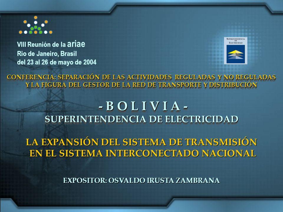 SECCIÓN 2 – EL ÁREA DE TRANSMISIÓN 99% de las Acciones en propiedad de Red Eléctrica de Bolivia 1% de las Acciones en propiedad de los trabajadores de ENDE Julio de 1997 Adjudicatario: Unión Fenosa Acción y Desarrollo Exterior S.A.