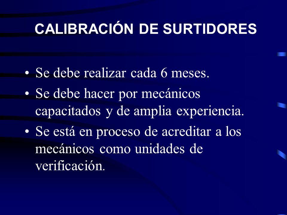 CERTIFICACIÓN DE CALIDAD Se realiza una cada cuatrimestre como mínimo.