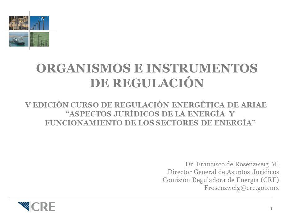 11 ORGANISMOS E INSTRUMENTOS DE REGULACIÓN V EDICIÓN CURSO DE REGULACIÓN ENERGÉTICA DE ARIAE ASPECTOS JURÍDICOS DE LA ENERGÍA Y FUNCIONAMIENTO DE LOS SECTORES DE ENERGÍA Dr.