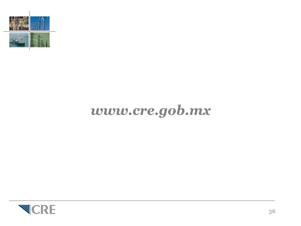 36 www.cre.gob.mx
