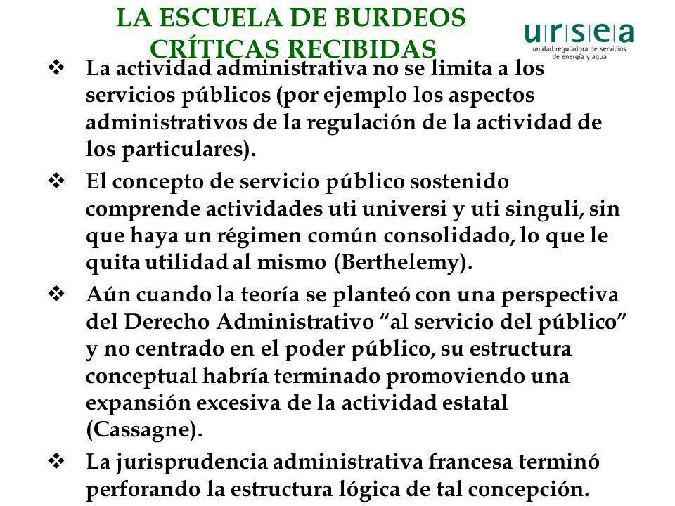 La actividad administrativa no se limita a los servicios públicos (por ejemplo los aspectos administrativos de la regulación de la actividad de los pa