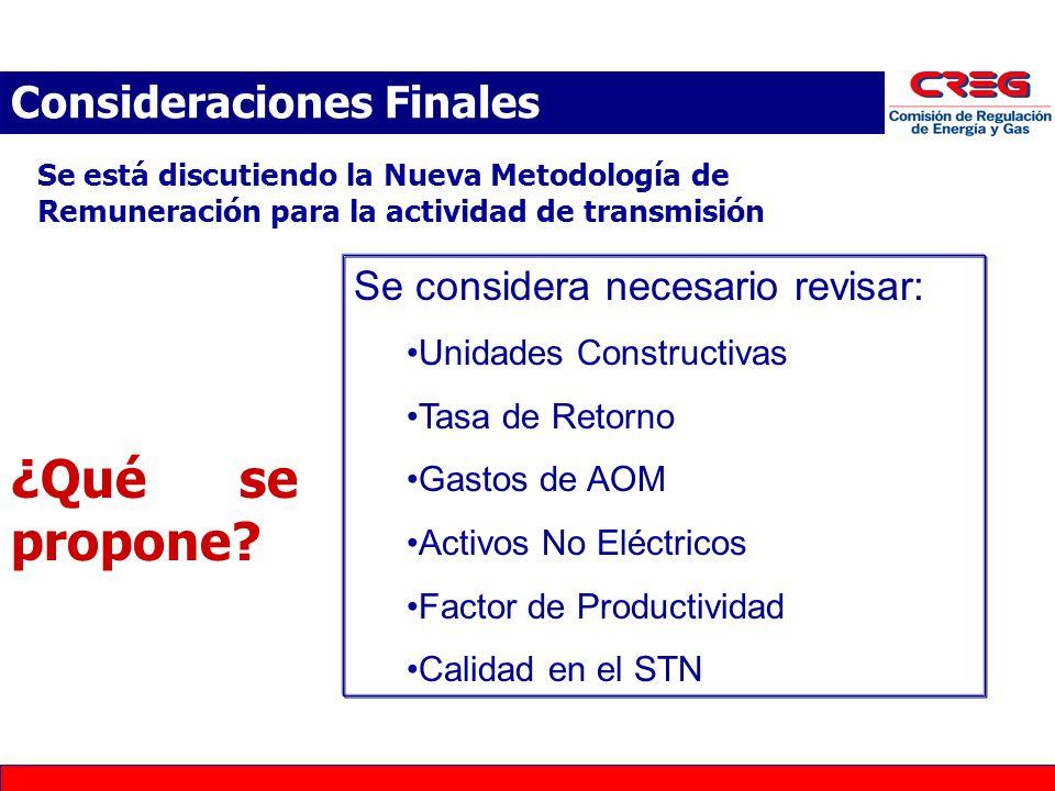 Se está discutiendo la Nueva Metodología de Remuneración para la actividad de transmisión ¿Qué se propone.
