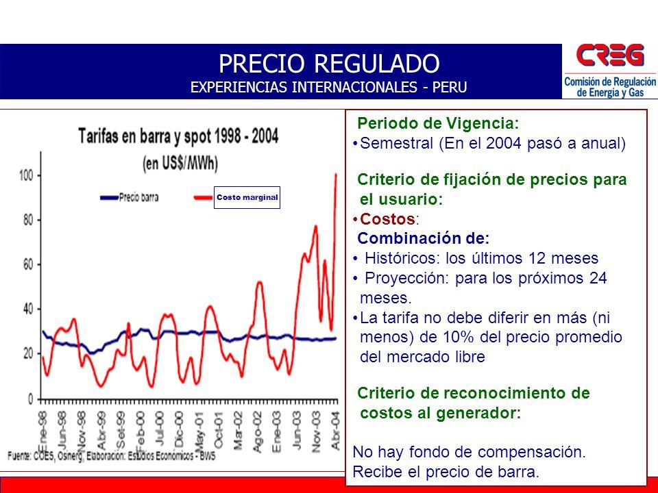 26 PRECIO REGULADO – CRITERIOS EXPERIENCIA INTERNACIONAL Período de vigencia Estacionales (invierno y verano) Anuales, semestrales Criterio de Fijació