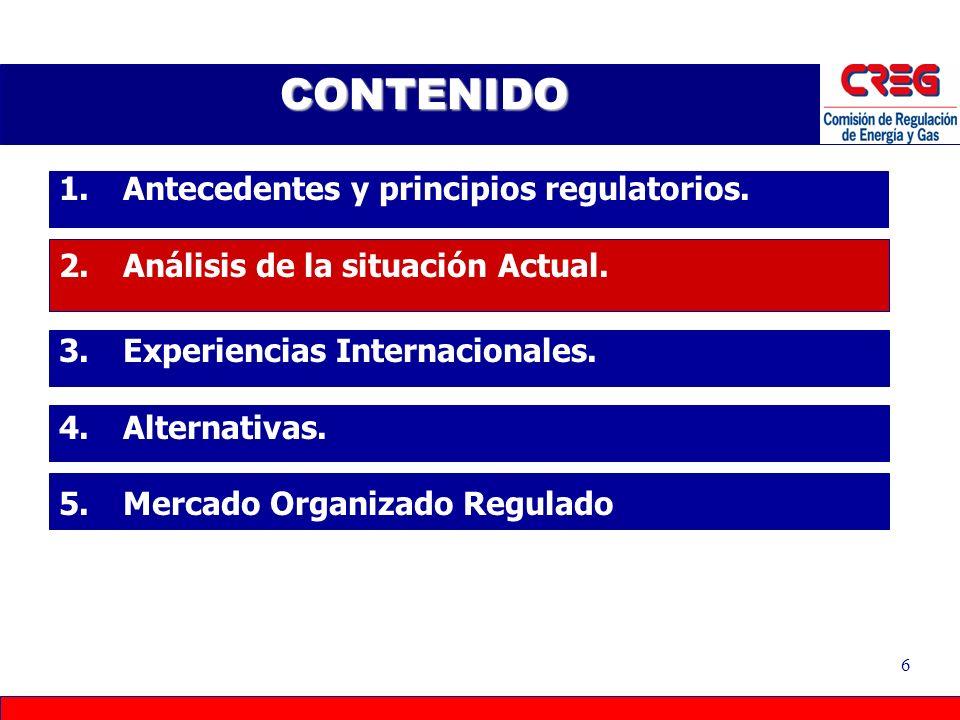 5 Empresas y Usuarios Recuperación de Costos PRINCIPIOS 1.Eficiencia Económica 2.Suficiencia Financiera 3.Estabilidad 4.Neutralidad 5.Transparencia 6.