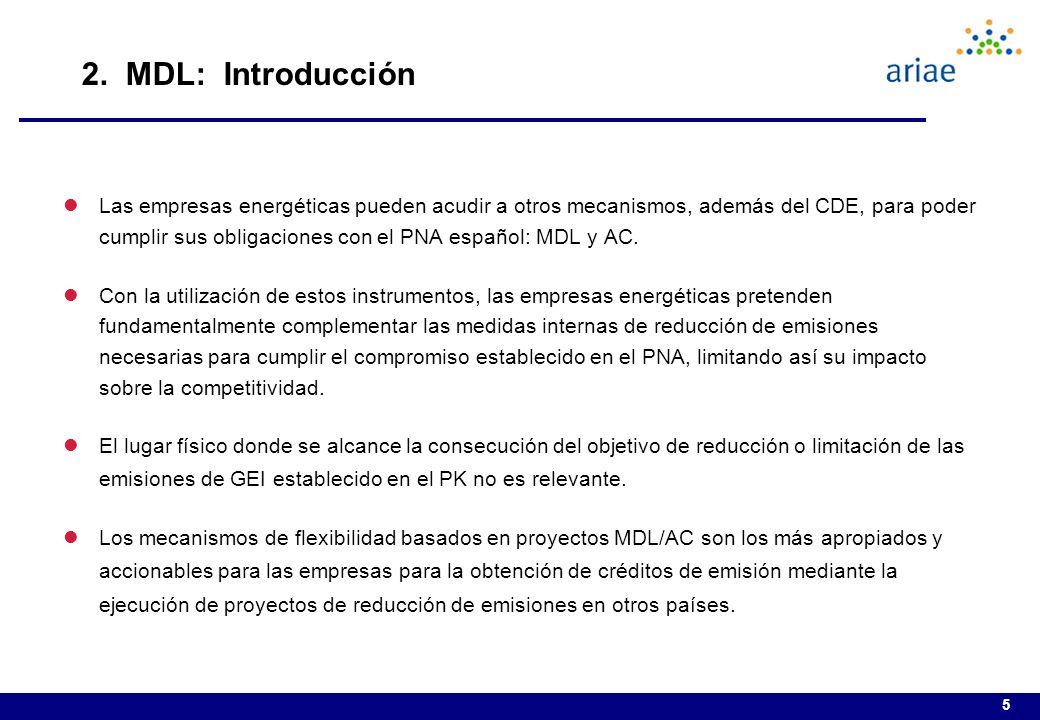 5 lLas empresas energéticas pueden acudir a otros mecanismos, además del CDE, para poder cumplir sus obligaciones con el PNA español: MDL y AC.