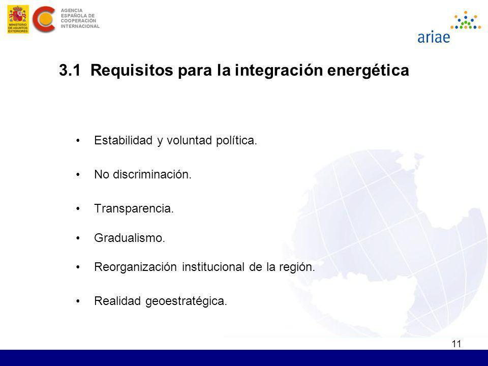 11 Estabilidad y voluntad política. No discriminación. Transparencia. Gradualismo. Reorganización institucional de la región. Realidad geoestratégica.
