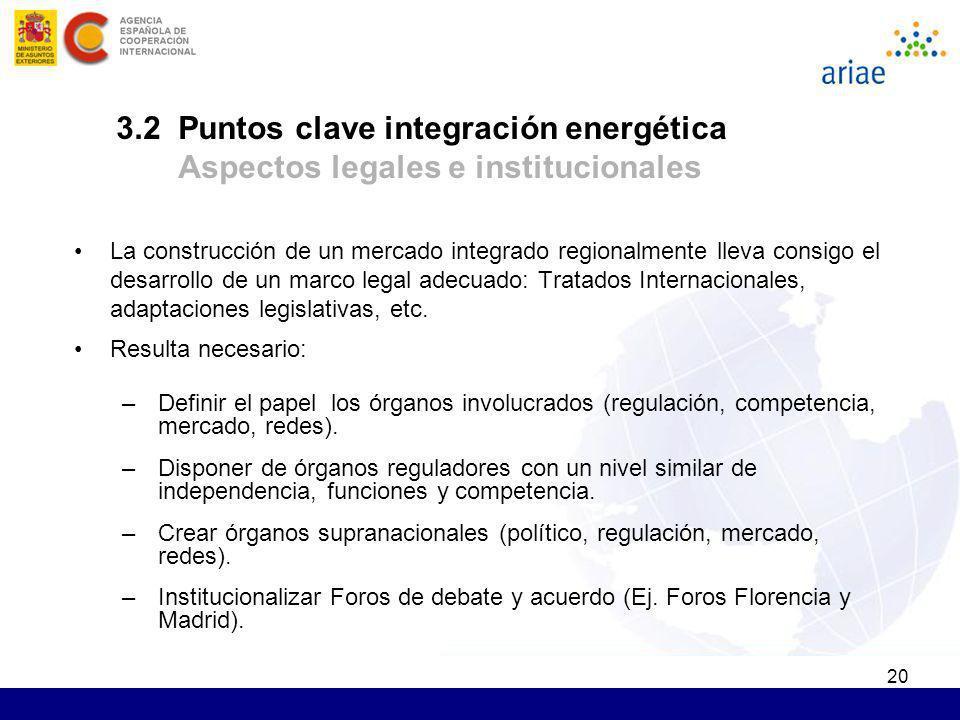 20 La construcción de un mercado integrado regionalmente lleva consigo el desarrollo de un marco legal adecuado: Tratados Internacionales, adaptacione
