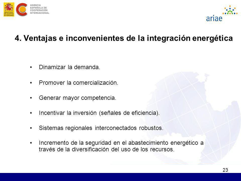23 Dinamizar la demanda. Promover la comercialización. Generar mayor competencia. Incentivar la inversión (señales de eficiencia). Sistemas regionales