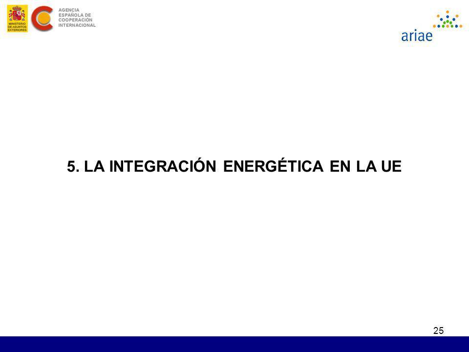 25 5. LA INTEGRACIÓN ENERGÉTICA EN LA UE