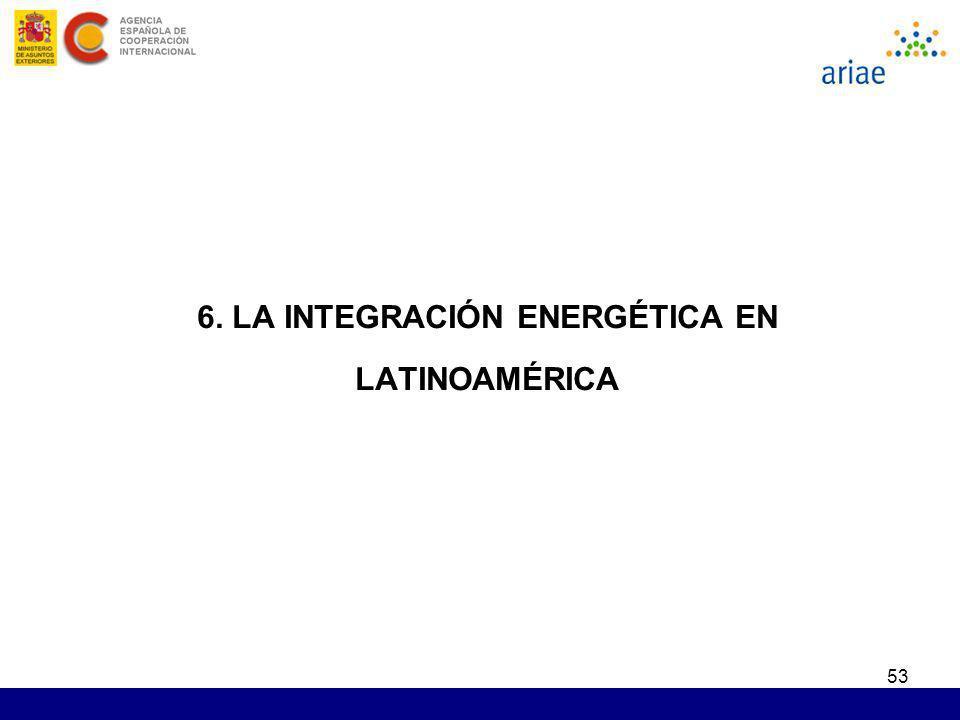 53 6. LA INTEGRACIÓN ENERGÉTICA EN LATINOAMÉRICA