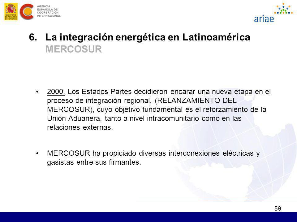 59 2000. Los Estados Partes decidieron encarar una nueva etapa en el proceso de integración regional, (RELANZAMIENTO DEL MERCOSUR), cuyo objetivo fund