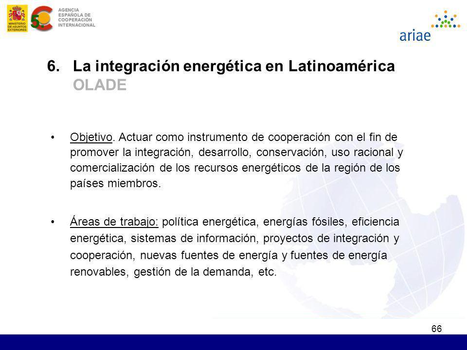 66 Objetivo. Actuar como instrumento de cooperación con el fin de promover la integración, desarrollo, conservación, uso racional y comercialización d