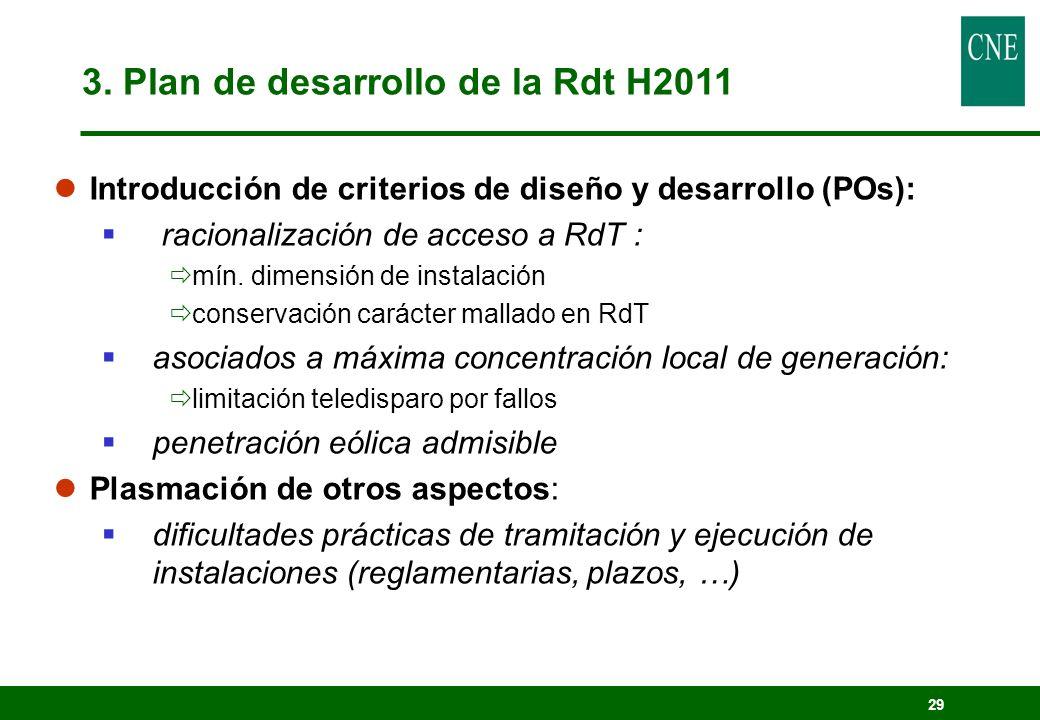 29 lIntroducción de criterios de diseño y desarrollo (POs): racionalización de acceso a RdT : mín. dimensión de instalación conservación carácter mall