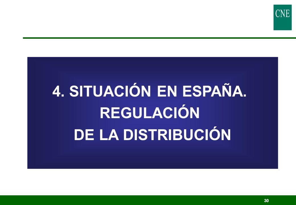 30 4. SITUACIÓN EN ESPAÑA. REGULACIÓN DE LA DISTRIBUCIÓN