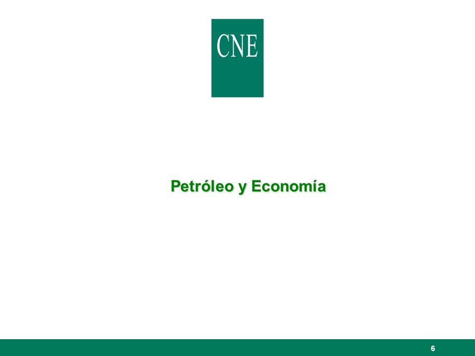 27 Peso promedio en LAC de las ingresos en concepto de exportaciones de petróleo sobre el valor total de las exportaciones (2003) Datos en porcentajes.