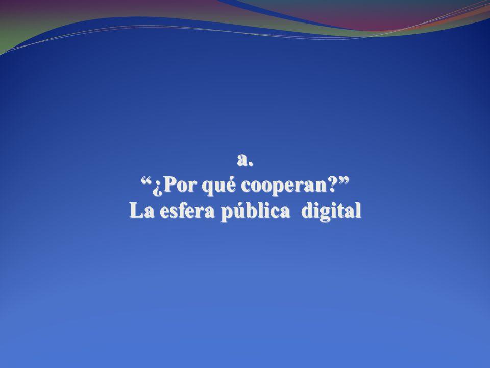 a. ¿Por qué cooperan? La esfera pública digital