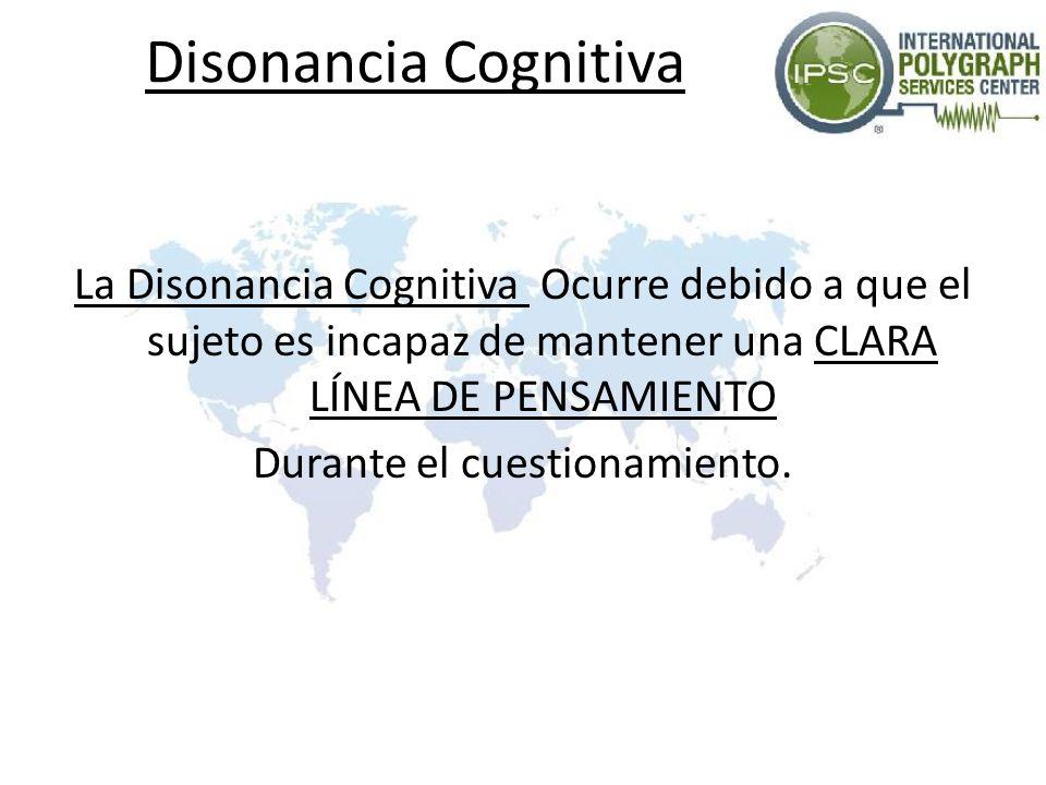Disonancia Cognitiva La Disonancia Cognitiva Ocurre debido a que el sujeto es incapaz de mantener una CLARA LÍNEA DE PENSAMIENTO Durante el cuestionamiento.